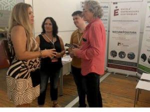 Mónica Bou coordinadora-Gerente del Pacto Territorial por el Empleo de La Plana Baixa, con Lola Pérez, Alberto Herdia, de rH en Positiu, y Albano López